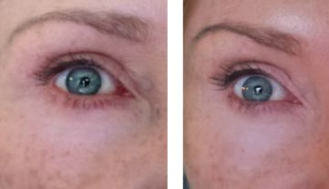 beauty tips for aging eyes before and after highlighter crayon
