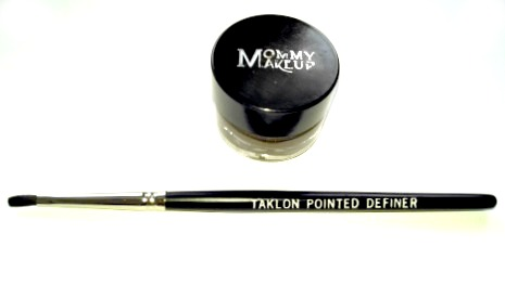 Mommy Makeup Gel Eyeliner with Talon Pointed Brush