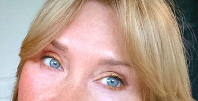 Best eyeliner tips. Shimmery golden caramel Any Wear cream on upper and lower eyelids.